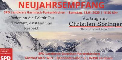 Einladung zum SPD-Neujahrsempfang