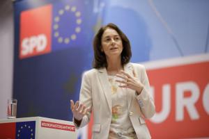 Katharina Barley - Bundesjustizministerin und SPD-Spitzenkandidatin bei der Europawahl am 26. Mai 2019